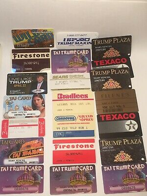 Vintage Card Credit Card Lot Trump Plaza Texaco Firestone Sears Bamberger's Etc.