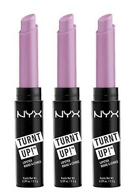 3 x NYX 2.5g TURNT UP EXTREME COLOR LIPSTICK 17 PLAYDATE - NEW