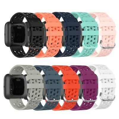 Multi Hole Replacement Silicone Band For Fitbit Versa Lite/ Versa/Versa 2 Strap