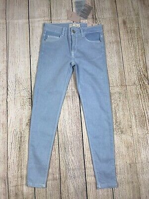Nwt Zara Girls Casual Collection Light Blue Jeans Skinny Denim Size 9