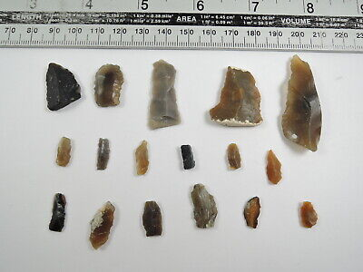 17 NEOLITHIC Flint MICROLITH and ARROWHEAD Essex England