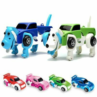 Adorable Dog Car Transformer Novelty Clockwork Deformable Cute Car Dog Kids Toy