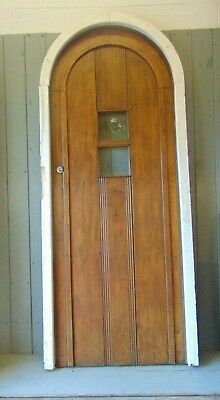 Reclaimed Antique Solid Oak Door And Frame With Key VERY HEAVY