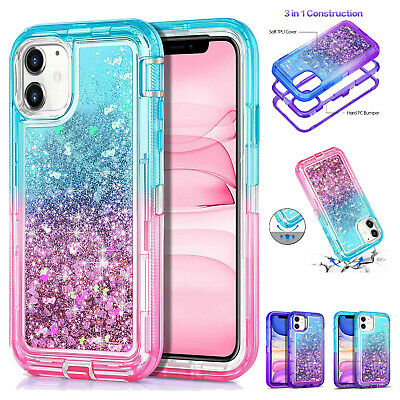 Glitter Bling Case For iPhone 11 Pro Max XR XS 67 8 Heavy Duty Transparent Cover
