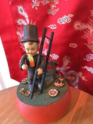 """Anri Reuge Vintage Music Box Italy """"Irish Eyes Are Smiling"""" carved wood LOOK"""