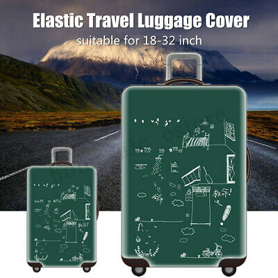 Travel Elastic Luggage Cover Suitcase Trolley Dustproof Protector Case 18-32''