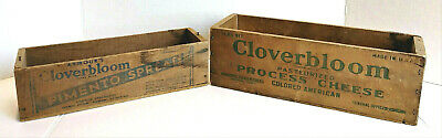 Cloverbloom Process Cheese Pimento Spread Antique Wooden Boxes Crates