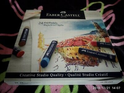Faber-Castell Oil Pastels Box of 24, Multicolors