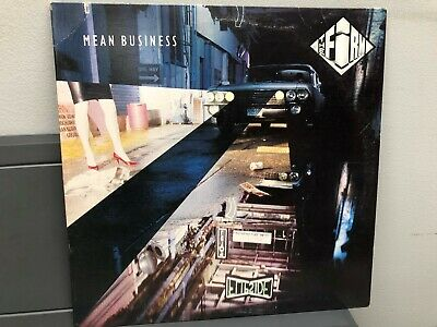 "The Firm-Mean Business 12"" LP Atlantic 7 81628-1E Hard Rock 1986 Near Mint"
