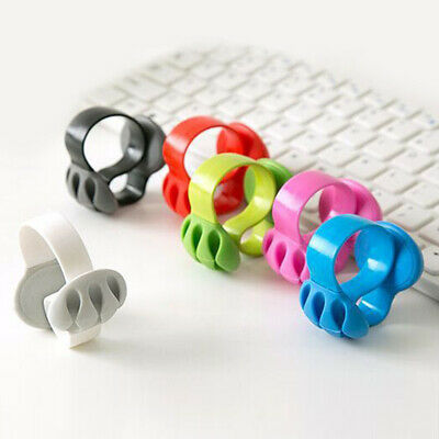 Wire Holder Ties Fixer Cable Organizer Silicone Lightweight Desktop S-Shaped