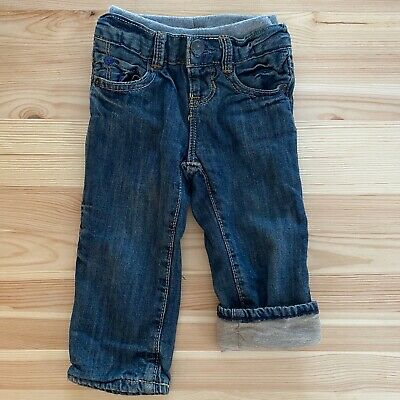 BABY GAP Boys Pull On 1969 Lined Jeans Size 3-6-9 Months