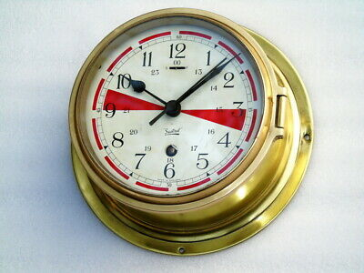Large Brass Sestrel England Ships Marine Mechanical Winding Clock Deck Watch
