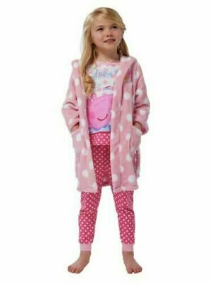 Age 18-24 Months Peppa Pig Pyjamas & Dressing Gown Nightwear Set PJs Girls Gift
