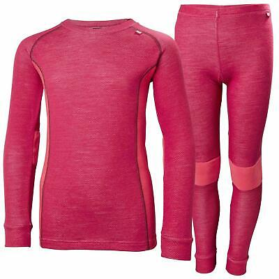 $99 HELLY HANSEN Junior HH Warm Merino Wool 2 Piece Base Layer Set Thermal 110//5