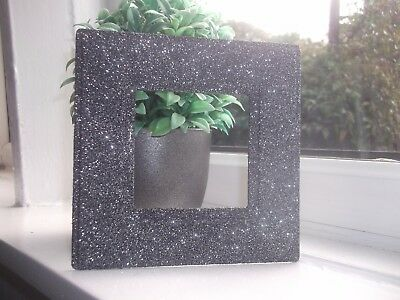SILVER CHUNKY GLITTER DOUBLE PLUG SOCKET SURROUND PLATE SPARKLE FIT ON WALLPAPER