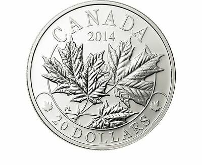 Canada 2014 1 Oz. $20 Pure Silver Majestic Maple Leaves 3 Coin Set Tax Exempt