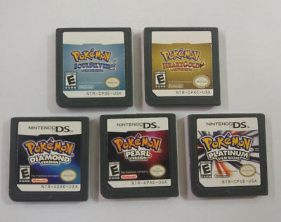 NEW DS Pokemon Games 5 choices