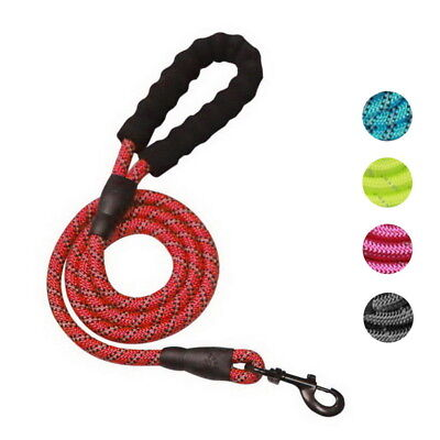 Extra Strong Reflective Rope Dog Lead with Foam Padded Handle Leash 150cm UK