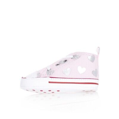 CHILD SNEAKERS CONVERSE CTAS FIRST STAR HI 864488C GLITTER HEARTS KIDS TRIBES Ro