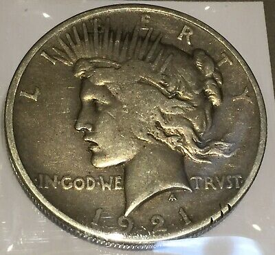 1921 Silver Peace 1 Dollar United States of America USA US