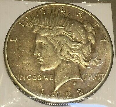 1922-S Silver Peace 1 Dollar United States of America USA US