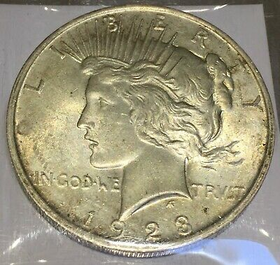 1923 Silver Peace 1 Dollar United States of America USA US