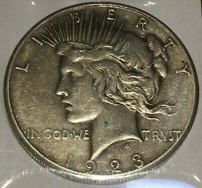 1923-S Silver Peace 1 Dollar United States of America USA US