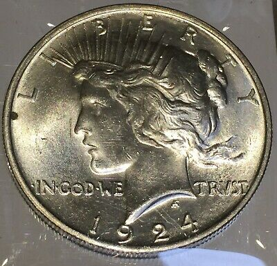 1924 Silver Peace 1 Dollar United States of America USA US