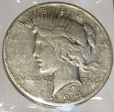 1924-S Silver Peace 1 Dollar United States of America USA US