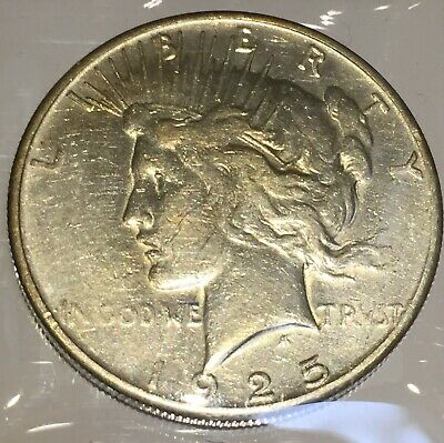 1925-S Silver Peace 1 Dollar United States of America USA US