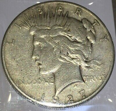 1927-S Silver Peace 1 Dollar United States of America USA US