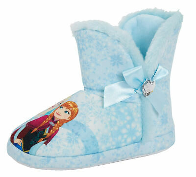 Girls Disney Frozen Slipper Boots Kids Elsa Anna Booties House Shoes Gift Size