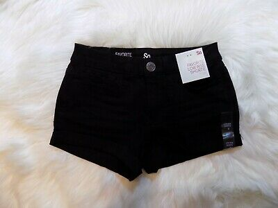 SO Favorite Low Rise Shortie Juniors Womens Size 0 Black Stretch Waist 24
