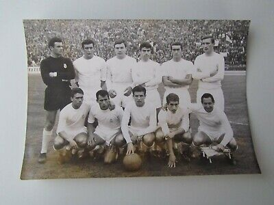 Photo Presse REAL MADRID (Final Coupe Europe contre PARTIZAN BELGRADE) Original