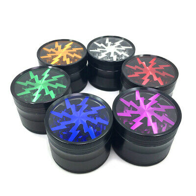 4 Layers Aluminum Alloy Hand Crank Tobacco Spice Grinder Pollintor Crusher