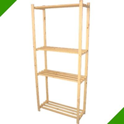 Cellar Shelf Wooden Shelves F Books Lever Arch File Boots Storage Food 0
