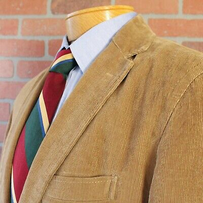 J Crew Vintage Cord Light Brown Corduroy Sport Coat 100% Cotton Medium
