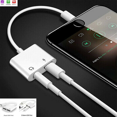 Audio Adapter For iPhone X 7 8 Plus Double Jack Charging Headphone AUX Splitter
