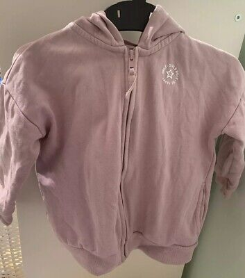 Girls Next Purple Zipped Hoodie - Age 2-3 Years