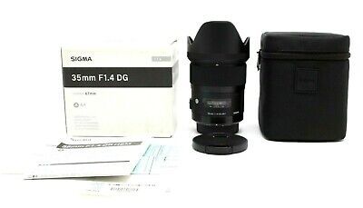 Mint Sigma 35mm f1.4 DG HSM Art Lens for Pentax K With Box #30888