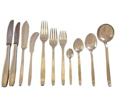 Funkis AKA Pattern 29 by Evald Nielsen Danish Sterling Silver Flatware Set 12