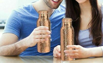 Hammered  Copper Water Bottle Leak Proof Joint Free (Ayurveda Health Benefit)