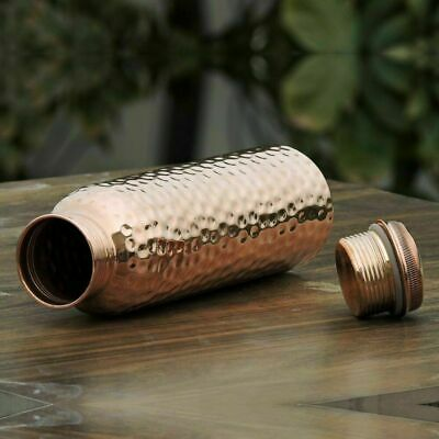 Ayurveda Good Health Benefit 100% Pure Hammered Copper Water Bottle Leak Proof