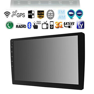 """2Din 10.1"""" Android 9.1 Car Stereo GPS Quad-core Bluetooth Navigation 1080P Wifi"""
