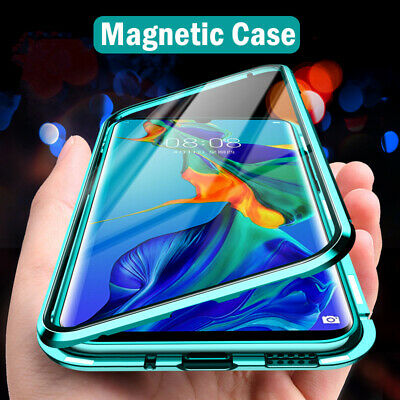 Phone Case For Huawei P30 Pro P40 Lite P Smart Magnetic Double Sided Glass Cover