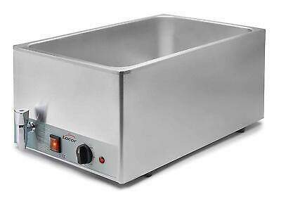 BAIN MARIE WET WELL TABLE TOP STAINLESS STEEL GN 1/1 1300w 200-230v LACOR 69036
