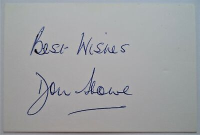 Don Howe West Bromwich Albion, Arsenal & England 1957-59 Ink Football Autograph