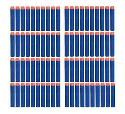 50PCs Soft Hollow Hole Head 7.2cm Refill Darts Toy Gun Bullets for Nerf Series