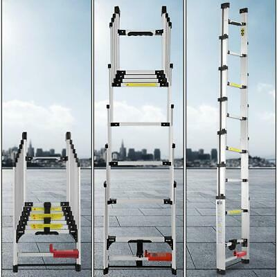 Telescopic Ladder Multifunction Folding Engineering Ladder Aluminum 2.8m