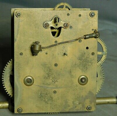 2 Antique Germany Clock Works RA Movements Time Strike Junghans Pendulum Wall